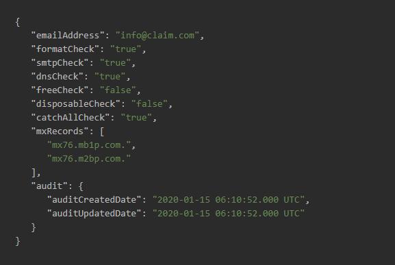 Email Verification API Tool